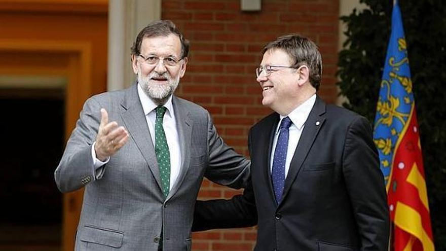 Mariano Rajoy y Ximo Puig, en La Moncloa.