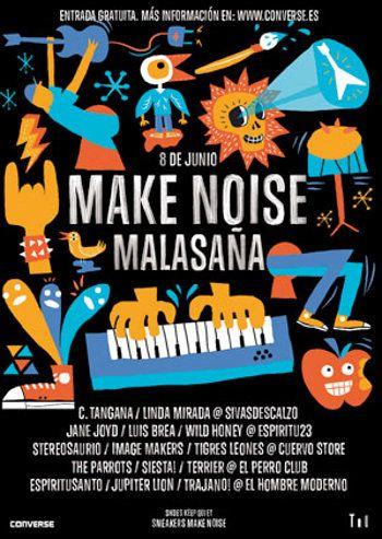 Cartel del Make Noise Malasaña