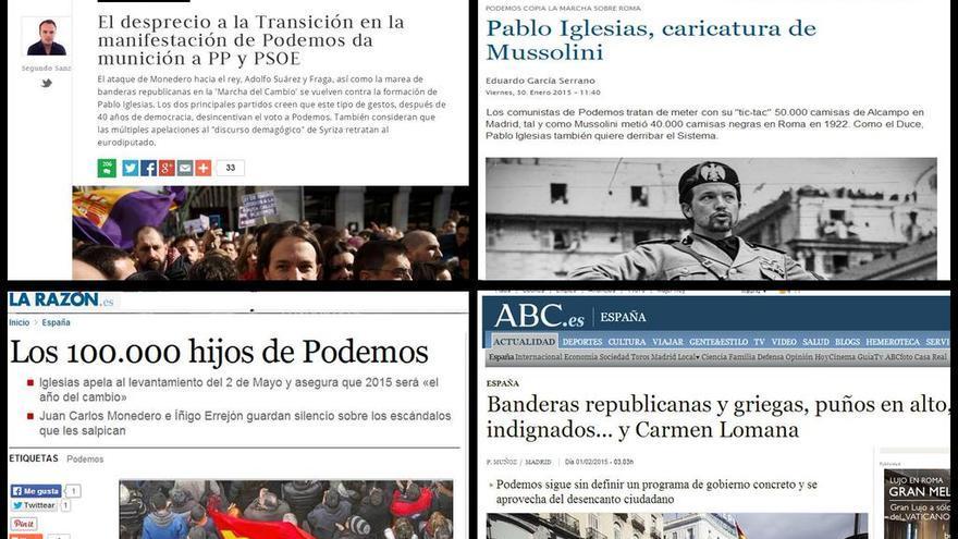 Informaciones sobre la Marcha del Cambio de Podemos.