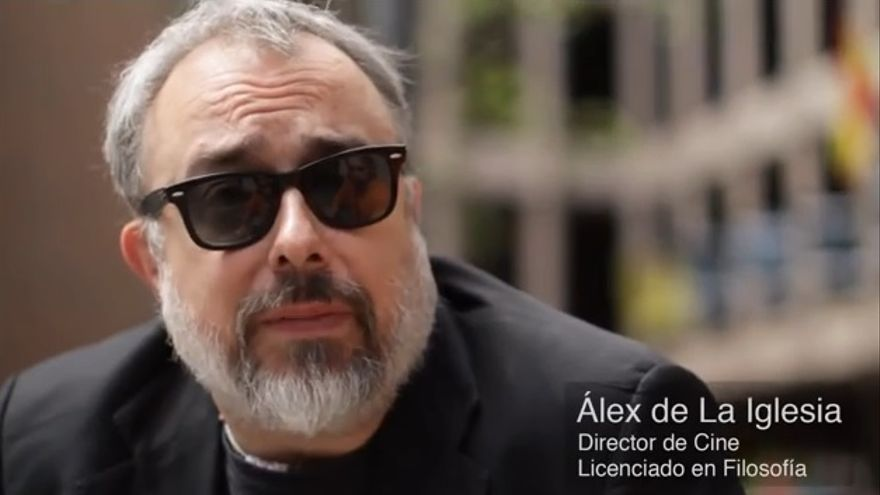 """Álex de la Iglesia defiende la importancia de la filosofía en un vídeo (ver más abajo): """"Que desaparezca la filosofía a mí me parece igual de aberrante que, no sé, que distribuyan drogas en los colegios""""."""