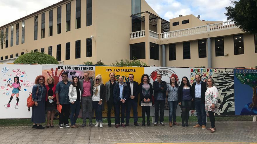 Participantes en actividades de la Semana Municipal por la Buena Convivencia en las Aulas, en Arona