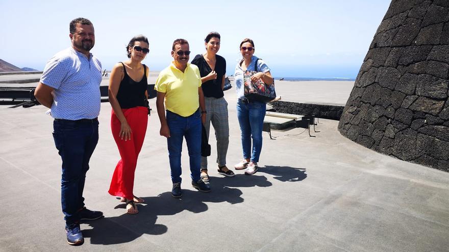 Visita a Lanzarote del grupo de Gobierno de Fuencaliente.