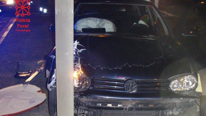 Imputado un vecino de Tafalla de 23 años que conducía tan ebrio que no pudo realizar la prueba de alcoholemia