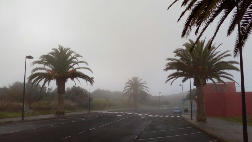 En la imagen, Barlovento, este miércoles, donde se registraron lloviznas. Foto: J.M.H.