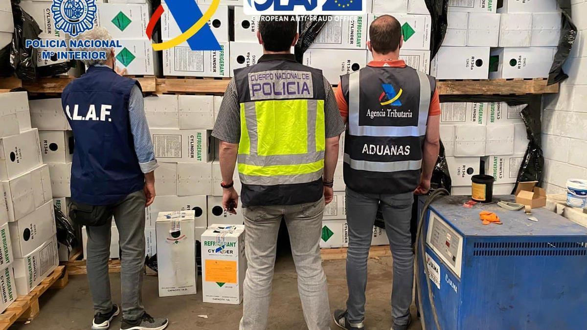 Operación contra la comercialización ilegal de gases de efecto invernadero