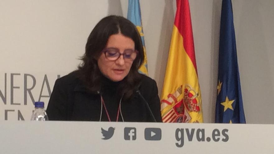 Mònica Oltra explica los acuerdos del pleno del Consell.