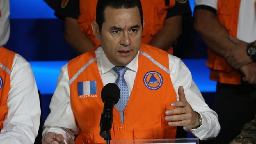 En la imagen el expresidente Jimmy Morales Cabrera.