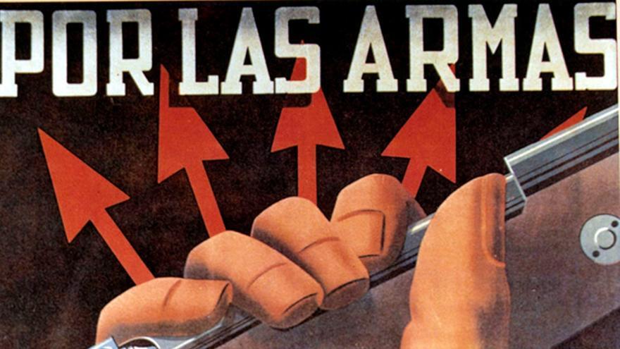 Cartel de propaganda del bando franquista