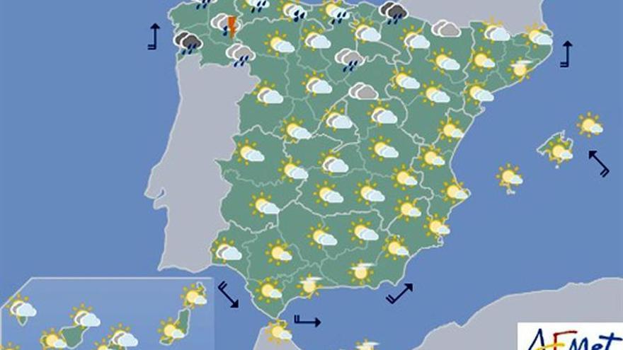Las lluvias se extienden hoy por Galicia, Asturias, País Vasco y Navarra