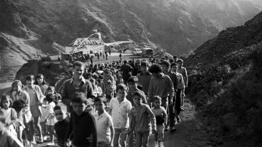 Fiesta de San Antonio 1970. Fotograf ía cedida por Manuel Vera Chinea
