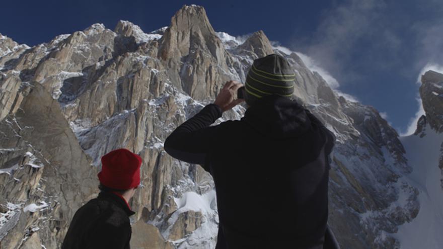 Vista de la cara Sur del Paiju Peak.
