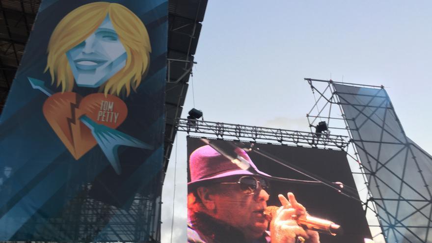 Tom Petty, muy presente este año en el ARF. Un momento de la actuación de Van Morrison, este viernes.