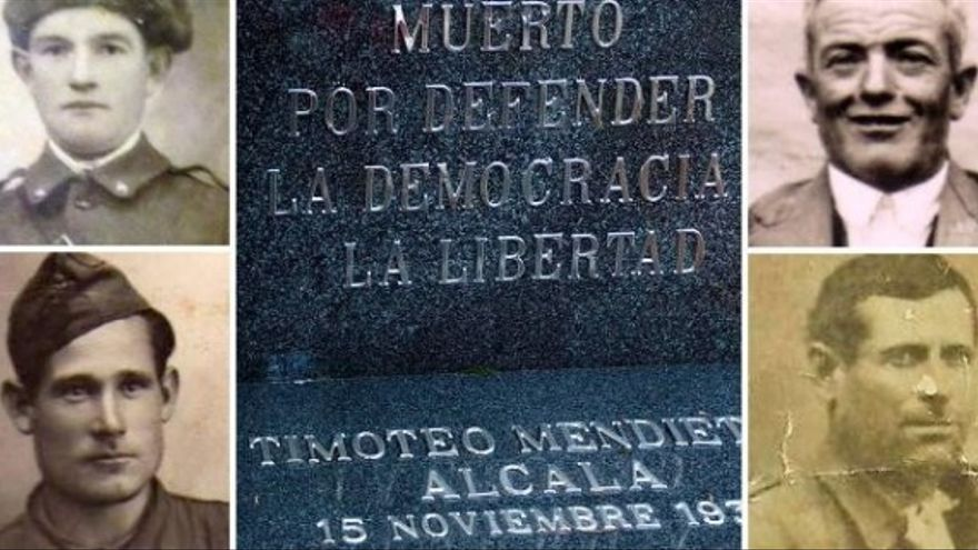 Lápida de Timoteo Mendieta / Foto: Foro por la Memoria de Guadalajara