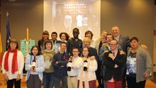 Representantes de Atades y de Bodegas Enate durante la presentación. Foto: Atades.