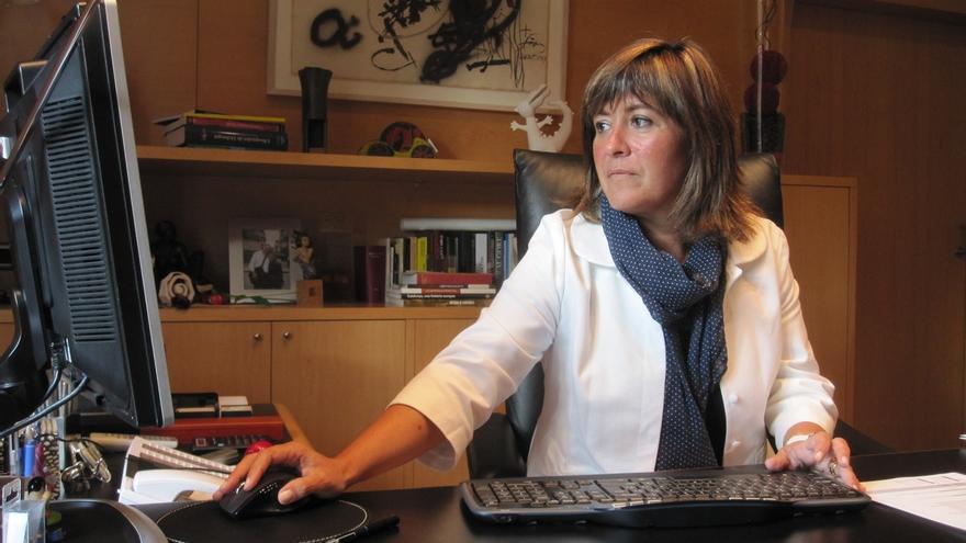 La alcaldesa de L'Hospitalet de Llobregat, Núria Marín (PSC)