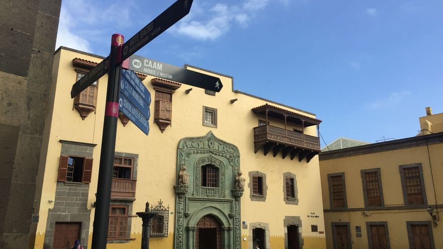 Señalética en la Casa de Colón de Las Palmas de Gran Canaria.