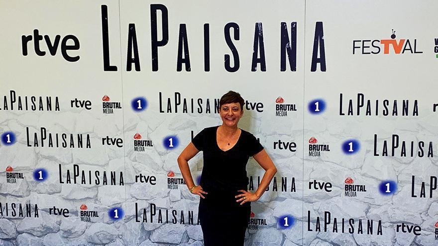 Eva Hache, en la presentación de 'La paisana'