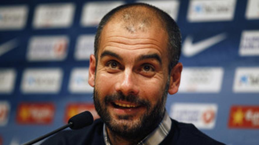 El entrenador del FC Barcelona, Josep Guardiola