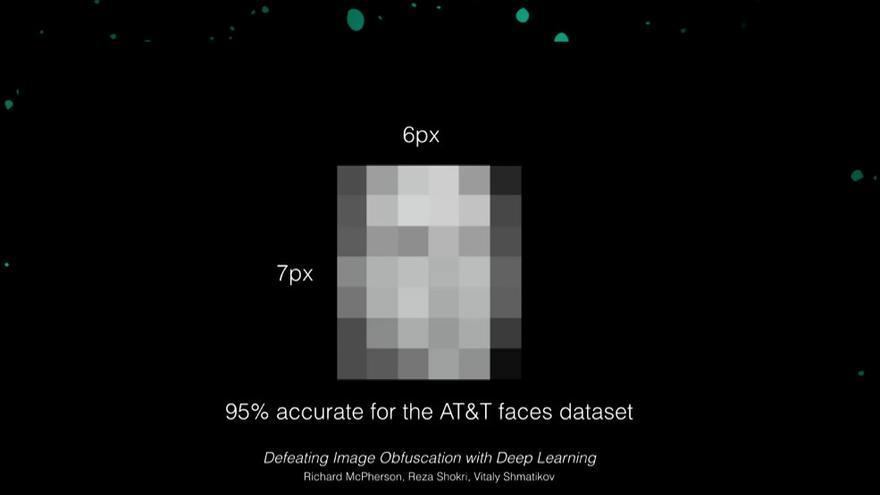6x7pixeles, información suficiente para el reconocimiento facial