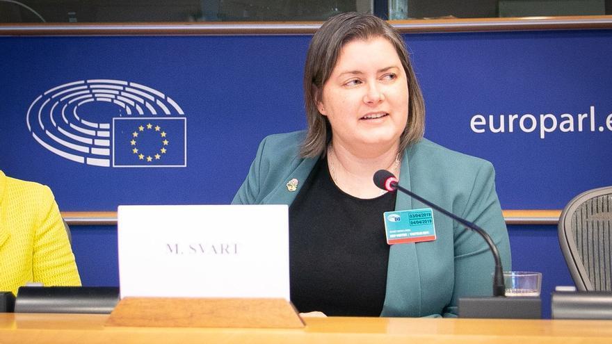 Maria Svart, directora nacional de los Democratic Socialists of America (DSA).