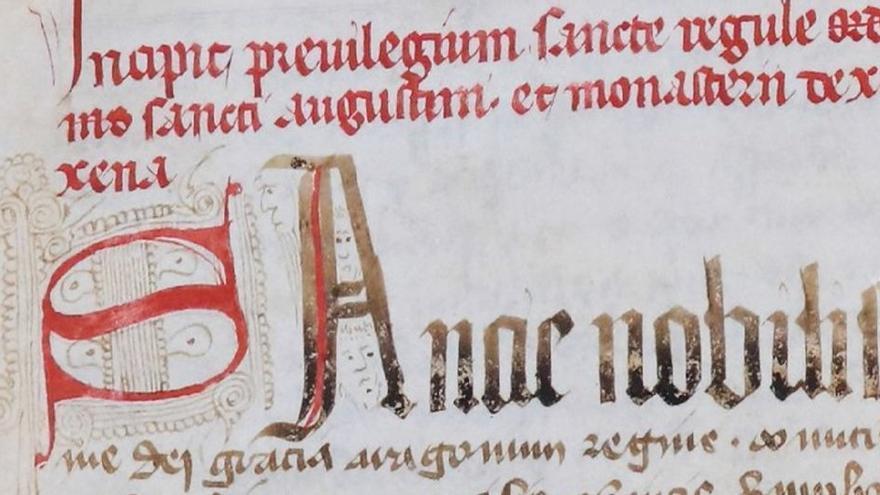 Fragmento del Códice de Doña Blanca de Sijena.