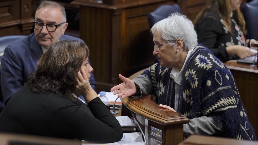 María Victoria Hernández en el Parlamento.