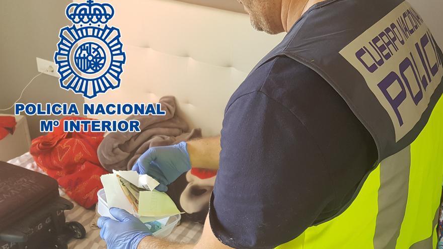 En la imagen, la droga incautada por la Policía Nacional.
