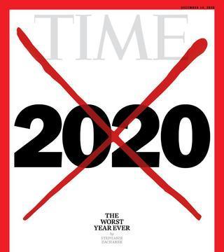Tapa de revista Time sobre el año 2020.