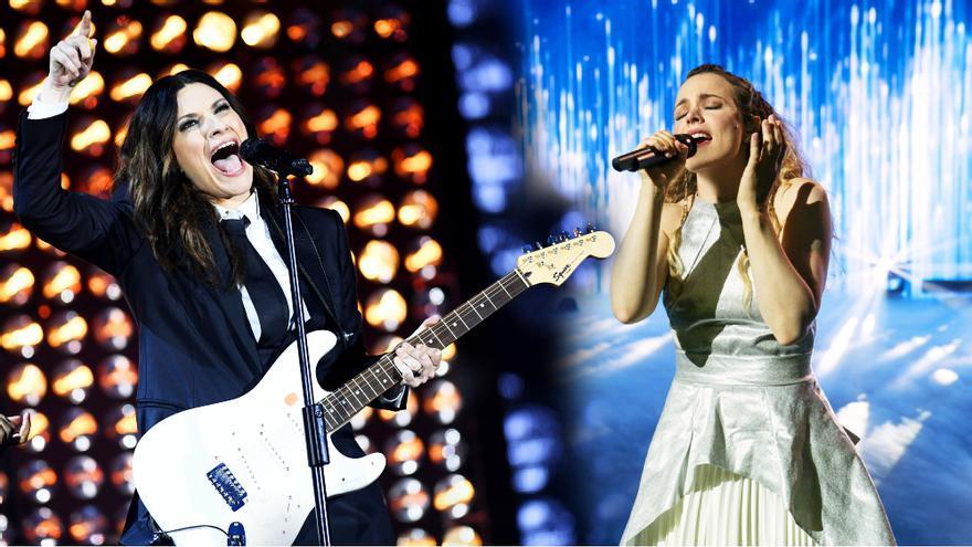 Laura Pausini y Rachel McAdams en 'Eurovisión'