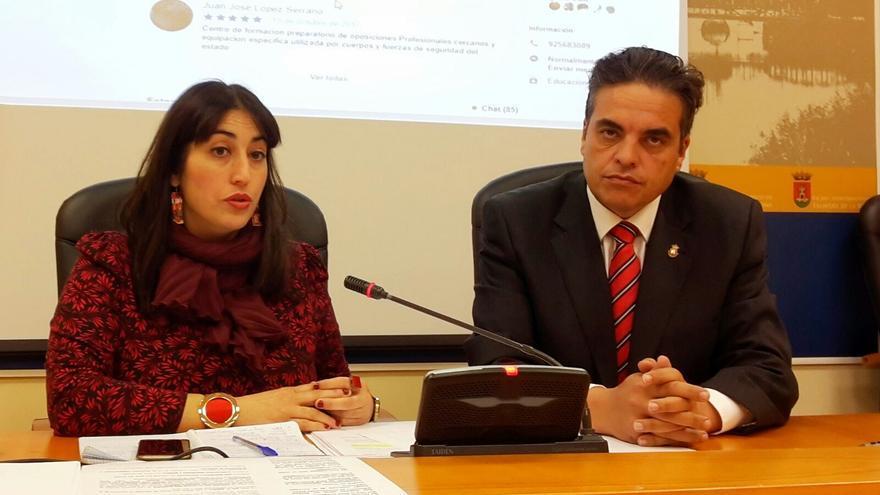 Sonsoles Arnao y Miguel Ángel Sánchez, de Ganemos Talavera