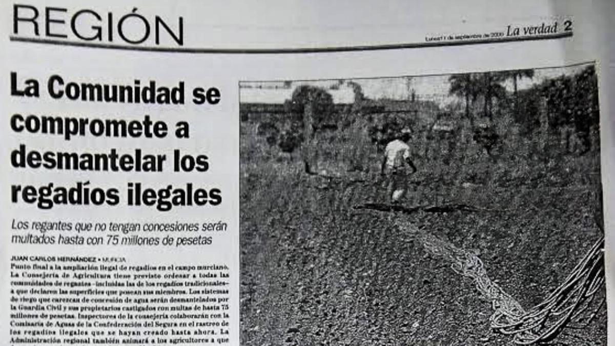 Entrevista publicada en el diario 'La Verdad' el 11 de septiembre de 2000