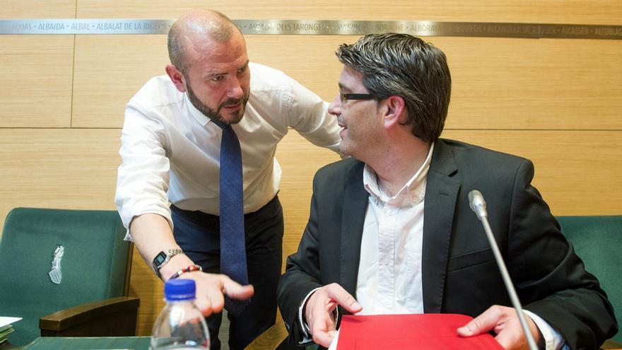 El diputado de Hacienda, Toni Gaspar, junto al presidente de la Diputación, Jorge Rodríguez