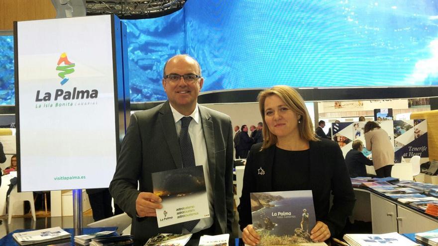 Anselmo Pestana y Alicia Vanoostende en la ITB Berlin 2017.