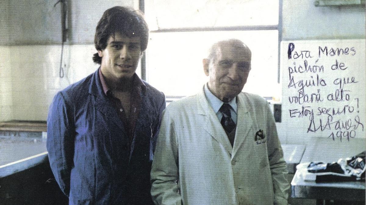Manes, en 1990, cuando estudiaba medicina en la UBA