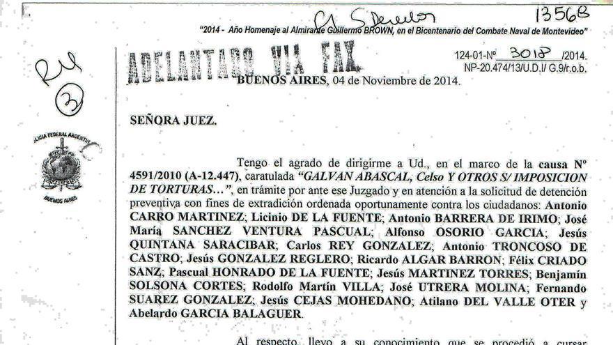 Solicitud de detención preventiva con fines de extradición por Interpol Argentina.