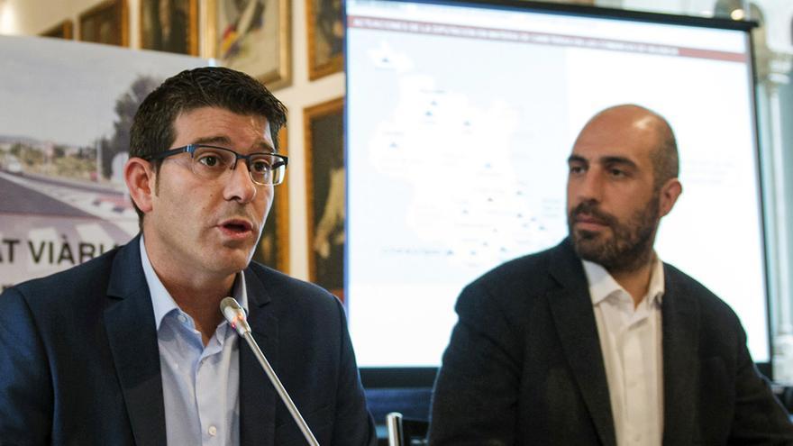 Jorge Rodríguez, presidente de la Diputación, y Pablo Seguí, diputado de Carreteras