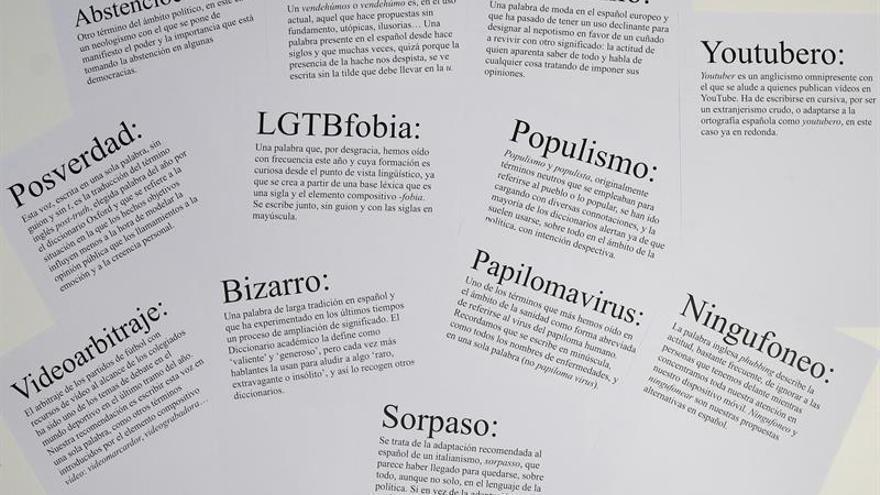 """""""Posverdad"""", """"youtubero"""" y """"populismo"""" optan a palabra del año de Fundéu BBVA"""
