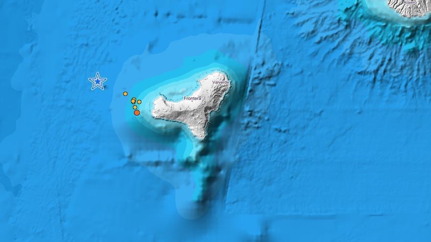 Movimientos sísmicos detectados por el IGN en El Hierro