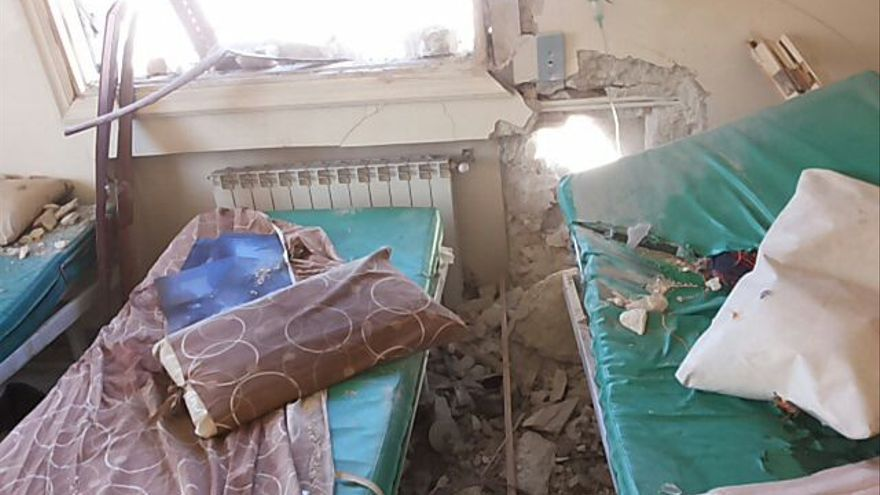 Destrozos tras un ataque contra un hospital en al-Sakhour, Alepo (Siria). / Amnesty International (Photo: Mujahid Abu al-Joud).