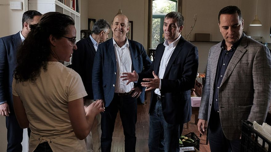 Pedro Ortega, Fernando Clavijo y Poli Suárez