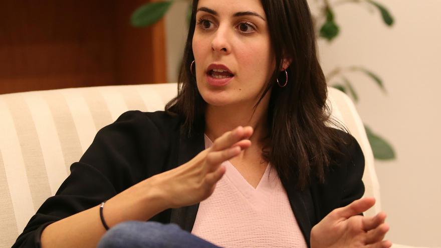 Rita Maestre, en su despacho del Ayuntamiento de Madrid
