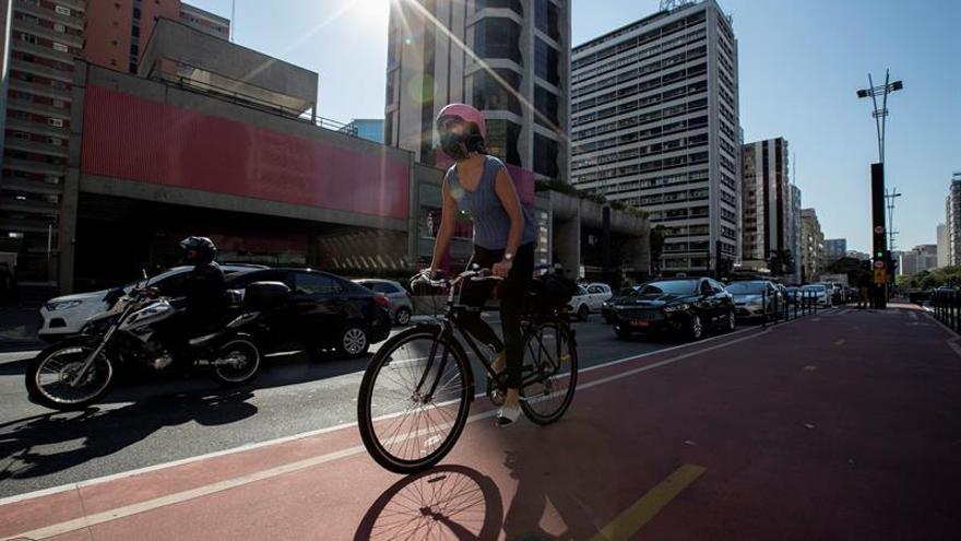 El centro de Sao Paulo amanece cerrado al tráfico por Día Mundial Sin Coches