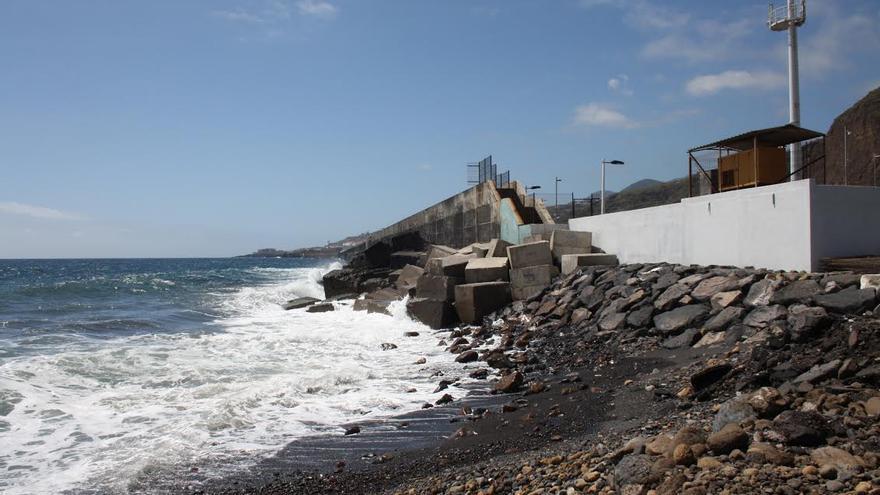 Zona donde se construirá la nueva estación de bombeo de aguas residuales de Santa Cruz de La Palma.