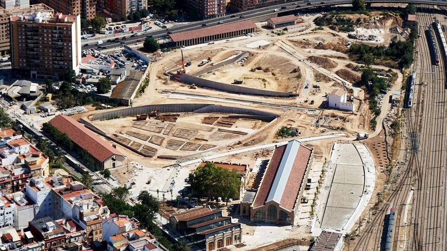 Estado actual de la parcela de la primera fase del Parque Central