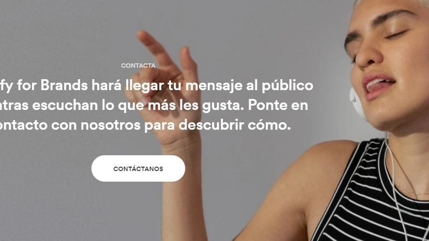 Spotify Brands, el departamento de la aplicación de música que la ofrece como soporte publicitario.