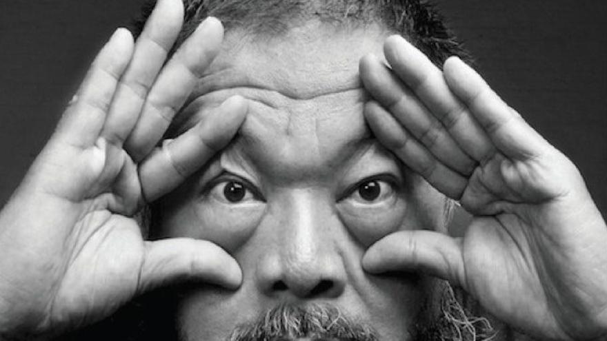 Cartel de la exposición de Ai Weiwei en Cuenca