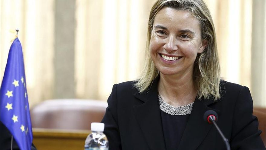 Mogherini confía que avancen las negociaciones paz al formarse gobierno israelí