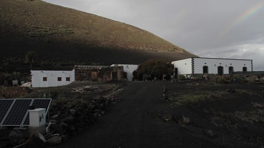 Casa del presidente del Consejo regulador del vino de Lanzarote, Rafael Morales.