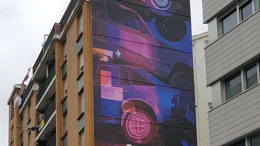 bilbao la vieja incorpora a su paisaje urbano una nueva obra mural de gran formato de velvet y zoer. Black Bedroom Furniture Sets. Home Design Ideas