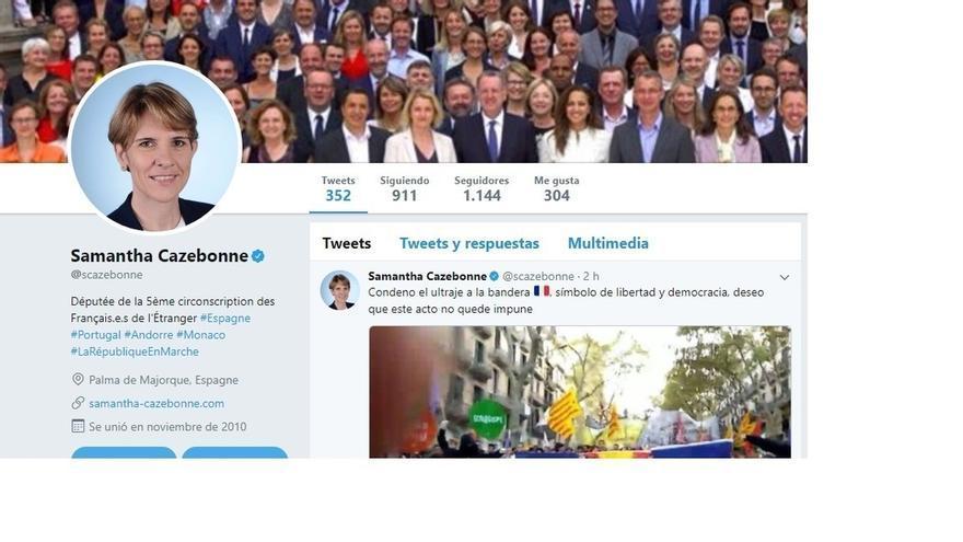 """Diputada francesa condena el """"ultraje"""" a su bandera en Barcelona y pide que """"este acto no quede impune"""""""